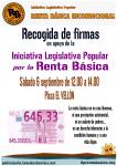 ILP para la Renta Básica: el sábado 6 de septiembre estaremos en el Vellón!
